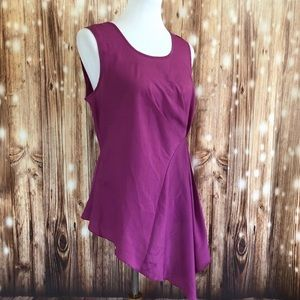 Venus asymmetrical purple blouse size 10 (L)
